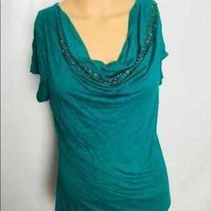 BananaRepublic Women's M Turquoise Green Blouse